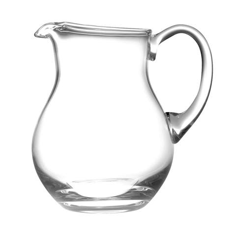 Majestic Gifts Clear European Glass Pitcher with Handle