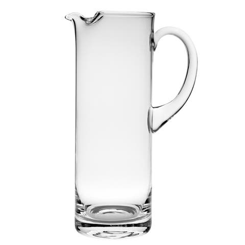 Majestic Gifts Clear European Glass Cylinder Pitcher with Handle