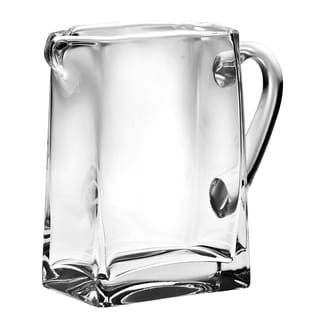 Majestic Gifts Clear European Glass Rectangular Pitcher with Handle