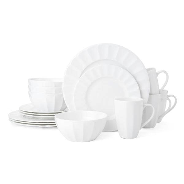 Mikasa Bonaire White Bone China 16-piece Dinnerware Set (Service for 4)  sc 1 st  Overstock.com : white bone china dinnerware sets - pezcame.com