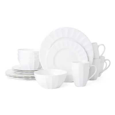 Mikasa Bonaire White Bone China 16-piece Dinnerware Set (Service for 4)