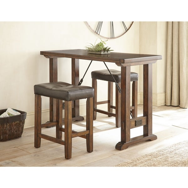 Conway Industrial Style 3 Piece Counter Height Dining Set By Greyson Living