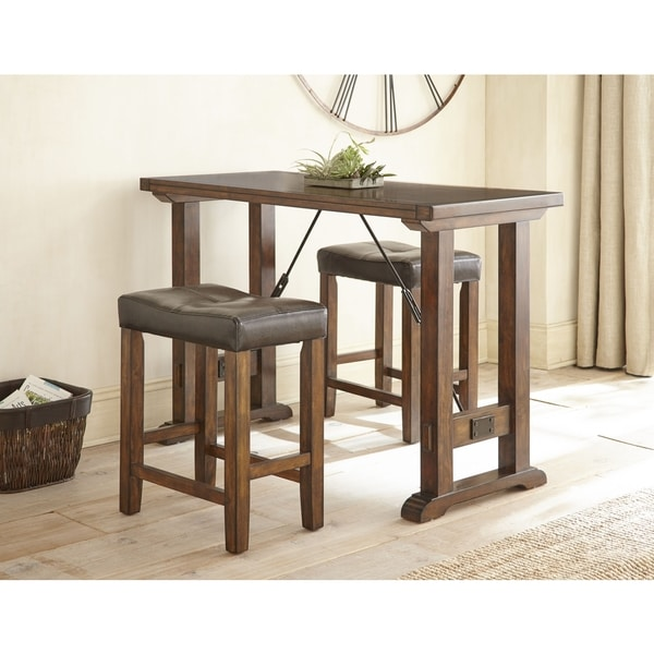 Shop Conway Industrial Style 3 Piece Counter Height Dining