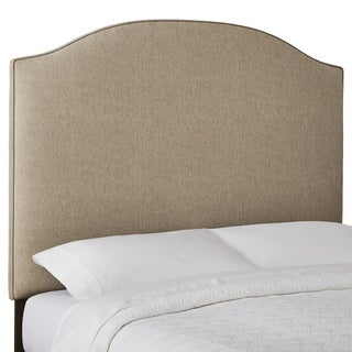 Humble + Haute Custom Textured Arched Upholstered Headboard