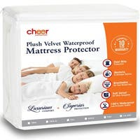 Cheer Collection Velvet Plush Waterproof Mattress Protector
