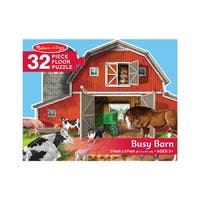 Melissa & Doug Busy Barn Shaped Floor Puzzle (32 pieces)