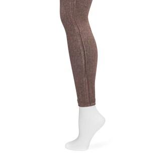 MUK LUKS Women's Brown Printed Leggings