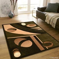 "Allstar Green Modern Colorblock Design Rug (7' 10"" X 10' 2"")"
