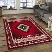 "Allstar Red Woven Traditional Southwest Contemporary Rug (7' 10"" X 10' 2"")"