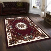"Allstar Burgundy 18Th Century Vintage Floral Traditional Rug (7' 10"" X 10' 2"")"