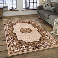 """Allstar Ivory 18Th Century Vintage Floral Traditional Rug (7' 10"""" X 10' 2"""")"""