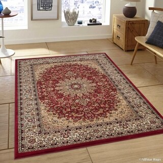 "Allstar Red/ Beige Ultra-Dense Woven Persian Pattern Rug (6' 7"" X 9' 3"")"