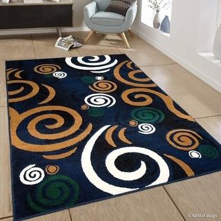 Allstar Modern With Abstract Swirl Design Rug