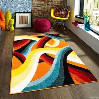"Allstar Woven Colorful Abstract 3D Design Rug (7' 10"" X 10')"