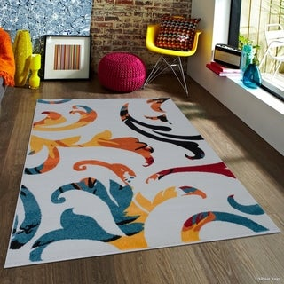 "Allstar Woven Modern Traditional Abstract Rug (7' 10"" X 10')"