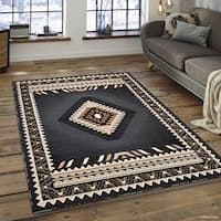 "Allstar Grey Woven Traditional Southwest Contemporary Rug - 7' 10"" X 10' 2"""