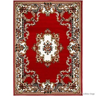 Allstar Woven Traditional Persian Floral Design Rug (Red 105 x 76)