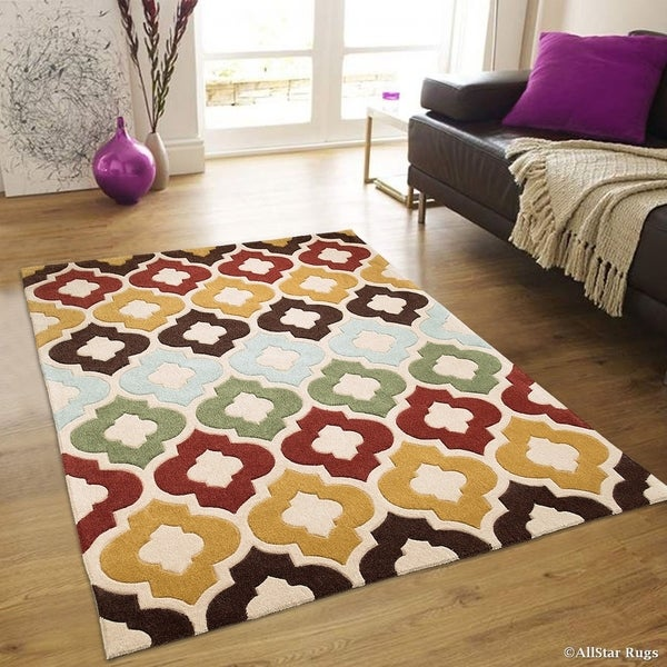 Shop Allstar Modern Transitional Moroccan Design Rug Multi Free