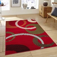 Allstar Ultra-soft Modern Circle Link Design Rug