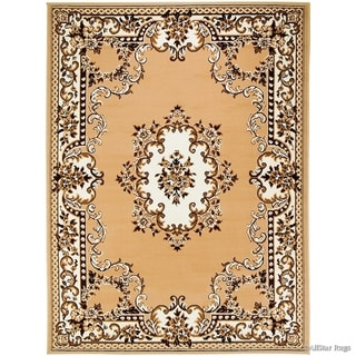 Allstar Woven Traditional Persian Floral Design Rug (Beige 105 x 76)