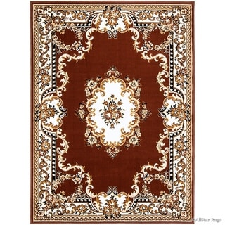 Allstar Woven Traditional Persian Floral Design Rug (Dark Brown 70 x 52)