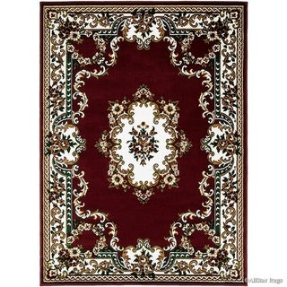 Allstar Woven Traditional Persian Floral Design Rug (Burgundy 70 x 52)