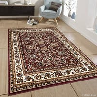 "Allstar Burgundy Woven Traditional Persian Floral Design Rug - 7' 7"" X 10' 6"""