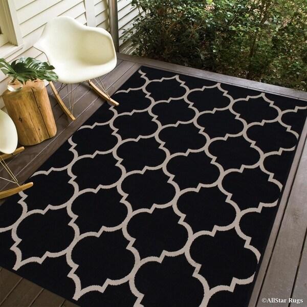 Allstar Indoor/ Outdoor Trellis Pattern Rug