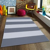 "Allstar Grey/ Ivory Indoor Outdoor With Pattern Rug (7' 10"" X 10' 2"")"