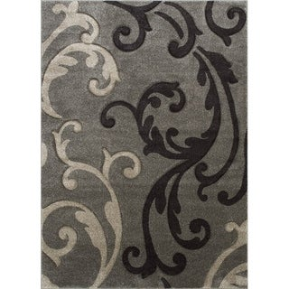 "Allstar Fume Floral Traditional Colorblock Design Rug (7' 9"" X 10' 5"")"