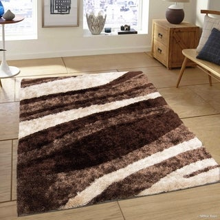 Everrouge Feather 3d Poly Silk Area Rug 5 X8 Free
