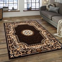 Allstar Chocolate 18th Century Vintage Floral Medallion Rug - 7'10 X 10'2