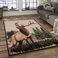 Allstar Berber Woven Soft Southwest Elk Theme Rug