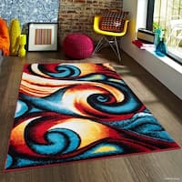Allstar Woven Modern Abstract Swirl Rug
