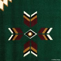 "Allstar Green Woven Traditional Southwestern Geometric Rug - 7' 7"" X 10' 6"""