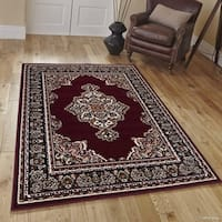 "Allstar Burgundy Woven Traditional Persian Floral Design Rug (7' 7"" X 10' 6"")"