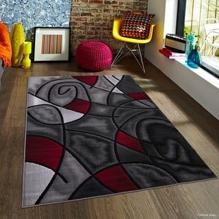 Persian Rugs Red Grey White Black Polypropylene Modern