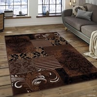 "Allstar Chocolate Modern Assorted Persian Floral Design Rug (7' 10"" X 10')"