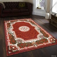"Allstar Rust 18Th Century Vintage Floral Traditional Rug (7' 10"" X 10' 2"")"