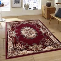 "Allstar Red Modern And Vintage Woven Persian Design Rug - 7' 9"" X 10' 5"""
