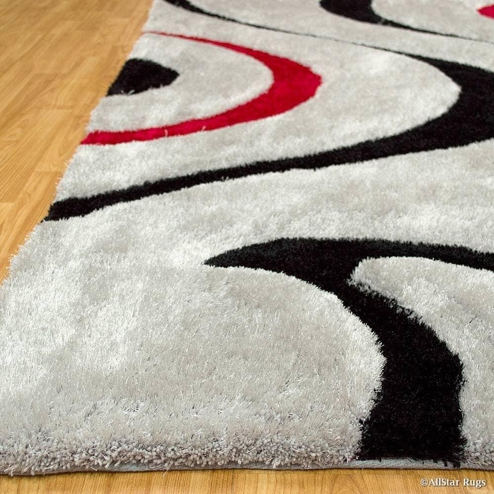 Allstar Modern Soft 3d Swirl Design Rug Overstock 16918880