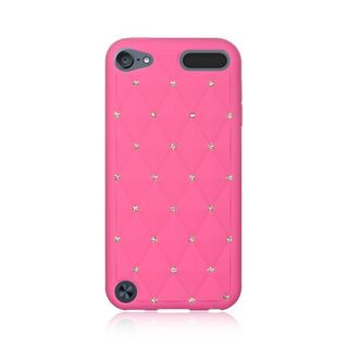 Insten Soft Silicone Skin Rubber Case Cover with Diamond For Apple iPod Touch 5th Gen/6th Gen