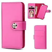 Insten Hot Pink Detachable Magnetic Leather Case Cover with Wallet Flap Pouch/Photo Display For Apple iPhone 7