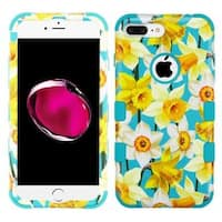 Insten Blue/Yellow Spring Daffodils Tuff Hard Snap-on Dual Layer Hybrid Case Cover For Apple iPhone 7 Plus