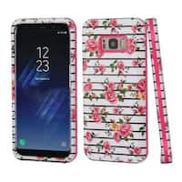 Insten Multi-Color Fresh Roses Hard Snap-on Dual Layer Hybrid Case Cover For Samsung Galaxy S8 Plus S8+