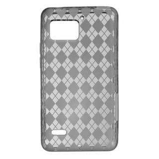 Insten Smoke Clear TPU Rubber Candy Skin Case Cover For Motorola Droid Bionic XT875 Targa