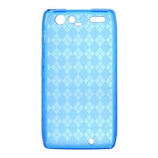 Insten Blue Clear TPU Rubber Candy Skin Crystal Case Cover For Motorola Droid Razr Maxx