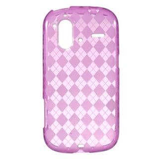 Insten Hot Pink Clear TPU Rubber Candy Skin Crystal Case Cover For HTC Amaze 4G