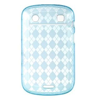 Insten Blue Clear TPU Rubber Candy Skin Crystal Case Cover For BlackBerry Bold 9900