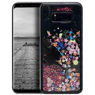 Insten Multi-Color Secret Garden Waterfall Liquid Hard Snap-on Case Cover For Samsung Galaxy S8